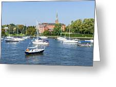 Sailboats By Charles Carroll House Greeting Card
