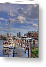 Sailboats In Constitution Marina - Boston Greeting Card by Joann Vitali