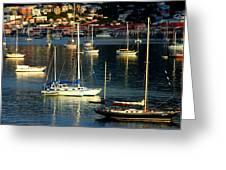 Sailboats Sunrise Greeting Card