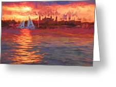Sailboatsunset Greeting Card