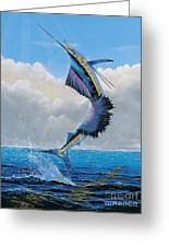 Sailfish Dance Off0054 Greeting Card