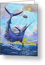 Sailfish Football Off0030 Greeting Card by Carey Chen