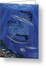 Sailfish Round Up Off0060 Greeting Card
