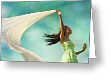 Sailing A Favorable Wind Greeting Card by Laura Fasulo