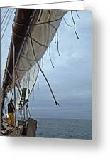 Sailing A Skipjack Greeting Card