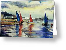 Sailing At Penarth Greeting Card