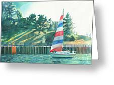 Sailing Back To Port Greeting Card