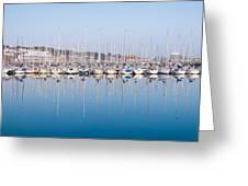 Sailing Boats In The Howth Marina Greeting Card
