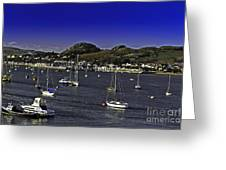 Sailing Conwy Harbor Greeting Card