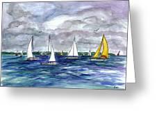 Sailing Day Greeting Card