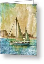 Sailing Dreams On A Summer Day Greeting Card