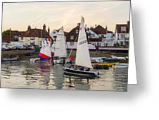 Sailing Home Greeting Card by Trevor Wintle