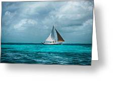 Sailing In Blue Belize Greeting Card