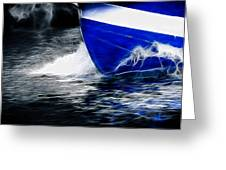 Sailing In Blue Greeting Card