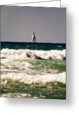 Sailing In California Greeting Card