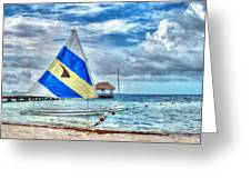 Sailing In Cancun Greeting Card
