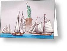 Sailing In Good Company Greeting Card