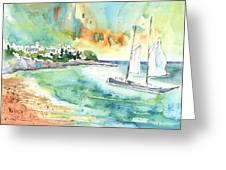 Sailing In Saint Martin Greeting Card