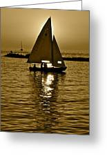 Sailing In Sepia Greeting Card