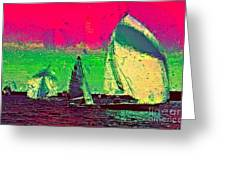 Sailing In Shimmer Greeting Card