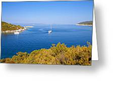 Sailing In The Adriatic Greeting Card
