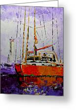 Sailing In The Mist Greeting Card by Vickie Warner