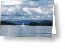 Sailing In The San Juans Greeting Card