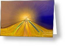 Sailing Into Paradise Greeting Card