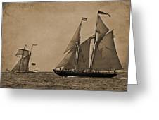 Sailing Into The Past Greeting Card