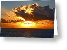 Sailing Into The Sunrise Greeting Card