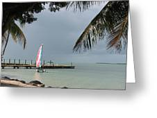 Sailing Key Largo Greeting Card