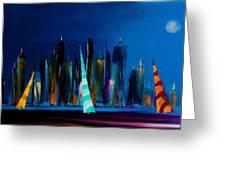 Sailing New York 3 Greeting Card