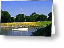 Sailing North On The Sacramento River Greeting Card