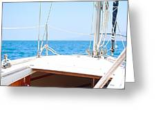 Sailing On A Fine Sunny Day Greeting Card