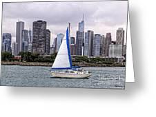 Sailing On Lake Michigan Greeting Card