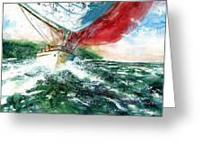 Sailing On The Breeze Greeting Card