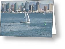 Sailing San Diego Greeting Card