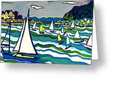 Sailing School Manchester By-the-sea Greeting Card