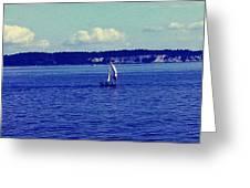 Sailing Seattle  Greeting Card