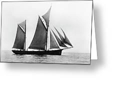 Sailing Ship Ketch, 1876 Greeting Card