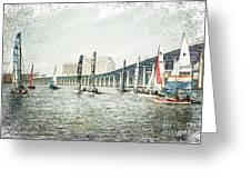 Sailing Sketch Photo Greeting Card