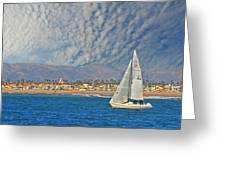 Sailing The Blues Away  Greeting Card