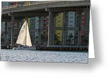 Sailing The Intracoastal Greeting Card