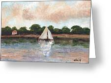 Sailing The Lagoon Greeting Card