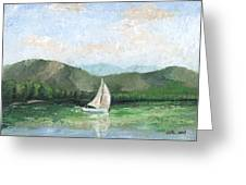 Sailing The Lake 1 Greeting Card