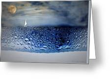 Sailing The Liquid Blue Greeting Card