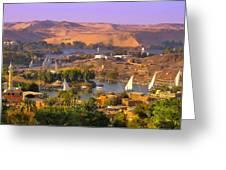 Sailing The Nile Greeting Card