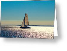 Sailing The Ocean Blue Greeting Card