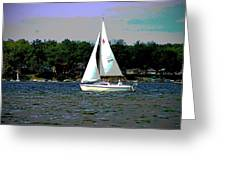 Sailing Greeting Card by Thomas Fouch