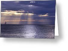 Sailing Through The Sun Rays 2. Greeting Card